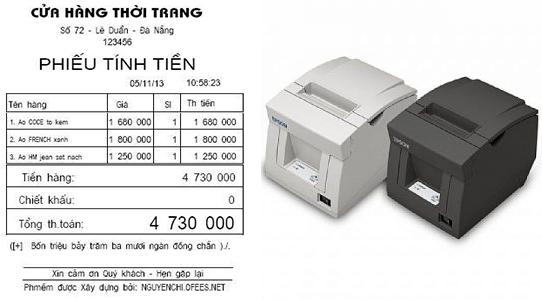 Nên mua máy in hóa đơn nào tốt cho cửa hàng, shop, quán caffee...?