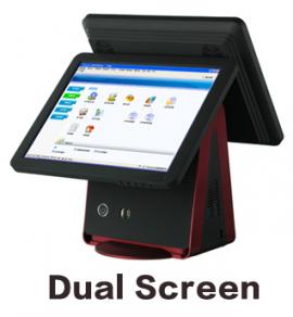 Máy tính tiền cảm ứng hai màn hình hỗ trợ bán hàng POS TWO LX-7000
